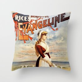 Rice's Beautiful Evangeline Throw Pillow