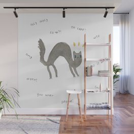 Scaredy Cat Wall Mural