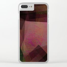 Kiwi Shapes - Digital Geometric Texture Clear iPhone Case