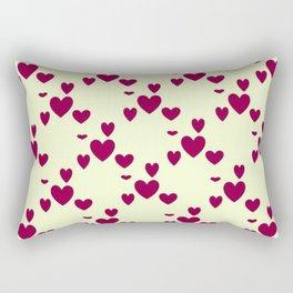 Diamond Hearts Rectangular Pillow