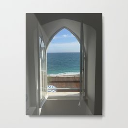 Monterosso Hotel Window Metal Print