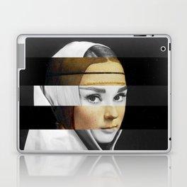 Leonardo da Vinci's Lady with a Ermine & Audrey Hepburn Laptop & iPad Skin