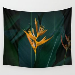Orchids yellow Wall Tapestry