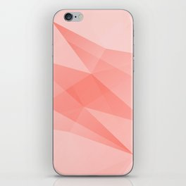 Pantone Living Coral Color of the Year 2019 on Abstract Geometric Shape Pattern iPhone Skin
