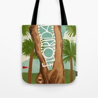 florida Tote Bags featuring Florida by Santiago Uceda