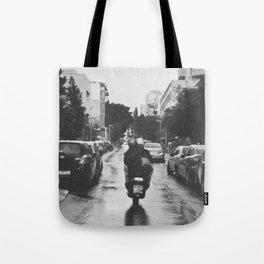 Couple in a Vespa Tote Bag