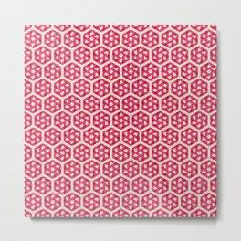 Pink Star Pattern Metal Print