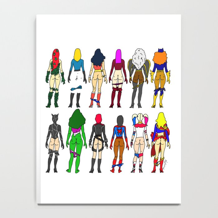Superhero Butts - Girls Superheroine Butts LV Notebook