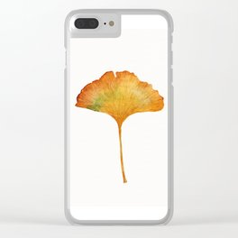 Autumn Ginkgo Biloba Clear iPhone Case