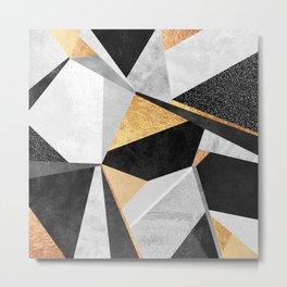 Geometry / Gold Metal Print