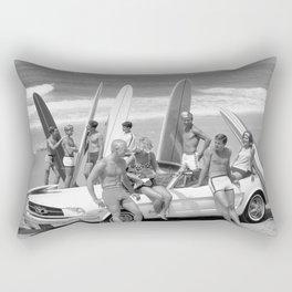 Vintage Beach Party Mustang Rectangular Pillow