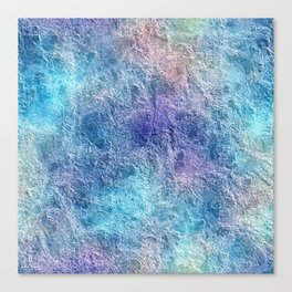 Colorful Cool Tones Blue Purple Abstract Canvas Print