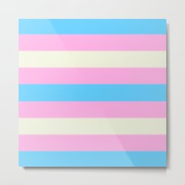 Transgender Pride Flag v2 Metal Print