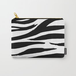 Zebra Print Stripes Carry-All Pouch