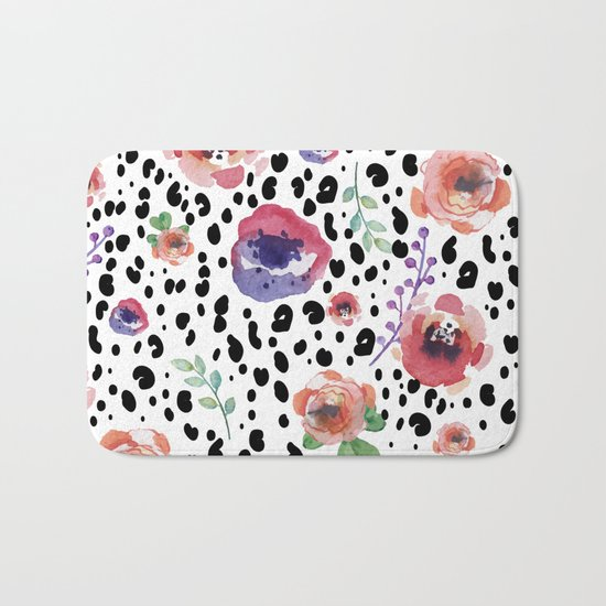 Abstract animal flowers Bath Mat