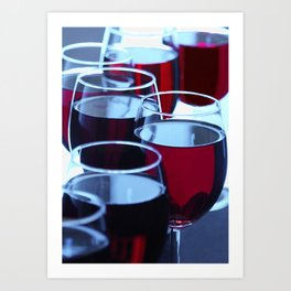 Group of Red Wine Glasses Art Print