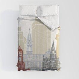 Halifax skyline poster Comforters