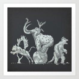 Prehistoric Circus Art Print
