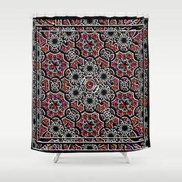 Digital Crochet As Art Shower Curtain