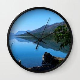 Lake McDonald Impression Wall Clock