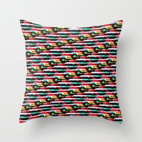 data Throw Pillows featuring Data Bent by I'm Part of The Problem