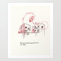 The church where everybody lied and it's annex Art Print