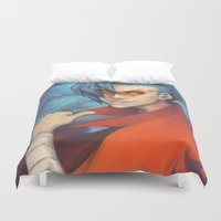 gurren lagann Duvet Covers featuring Pierce the Heavens! by Zaley