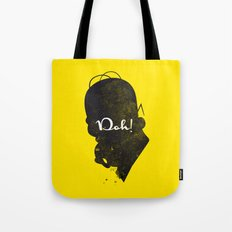 Doh – Homer Simpson Silhouette Quote Tote Bag