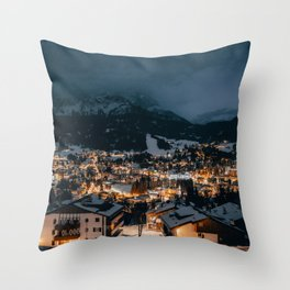Dolomites - Cortina D'Ampezzo by night Throw Pillow