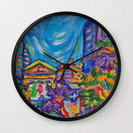 VAG From The Garden Wall Clock