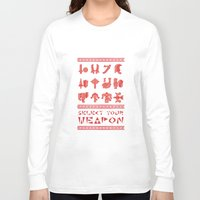 monster hunter Long Sleeve T-shirts featuring Monster Hunter: Select Your Weapon by KEITHXIII