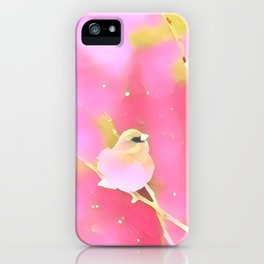 Junco Pink Yellow by CheyAnne Sexton iPhone Case