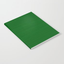 Emerald Green Brush Texture - Solid Color Notebook