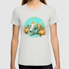 Clem-mew-tine SMALL Silver Womens Fitted Tee