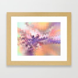 Cherry Blossoms Abstract Framed Art Print