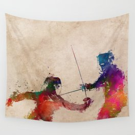 Fencing sport art #fencing Wall Tapestry