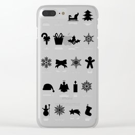 Christmas symbols Clear iPhone Case