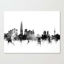 Seoul Skyline South Korea Canvas Print