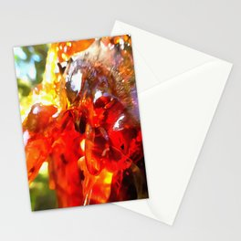 Apricot Resin Abstract Stationery Cards