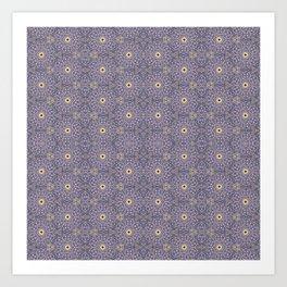 Purple Antique Whimsy Art Print