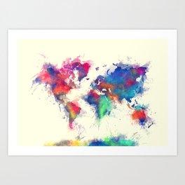 world map 105 #worldmap #map Art Print