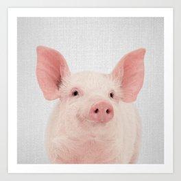 Pig - Colorful Art Print