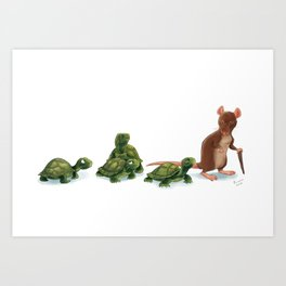 Awkward Family Art Print
