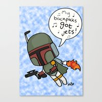 boba Canvas Prints featuring boba by kaylieghkartoons