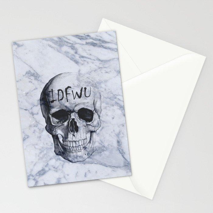 Marble IDFWU Skull Stationery Cards