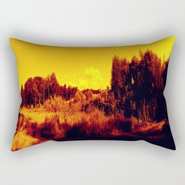 Eyes On Orange Horizons Rectangular Pillow
