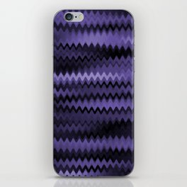 Purple Waves Abstract iPhone Skin