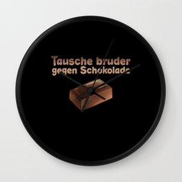 Chocolate Brother Siblings Wall Clock