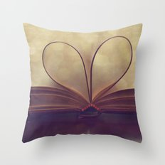 Love of the Book Throw Pillow