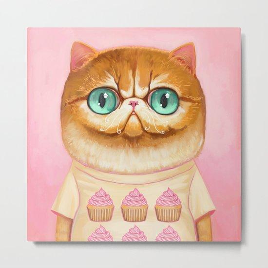 Cupcake Cat Metal Print